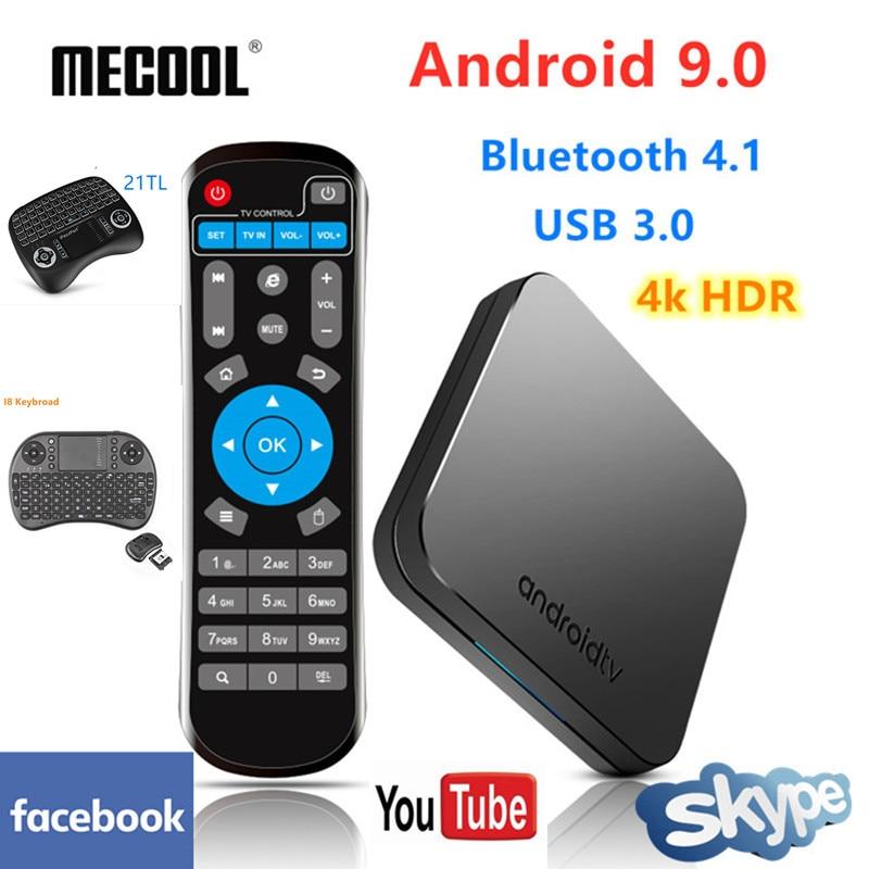 2019 plus récent Mecool KM9 TV Box Android 9.0 Amlogic S905X2 4 GB LPDDR4 32 GB ROM 4 K Smart TV Box USB 3.0 Bluetooth 4.1 Android Box