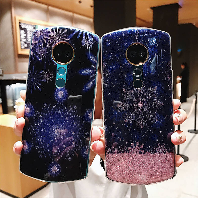 New Glitter Snowflake Silicone For Iphone 6 6S 7 8plus X Xs Xr Xsmax Anti-Fall Phone Case