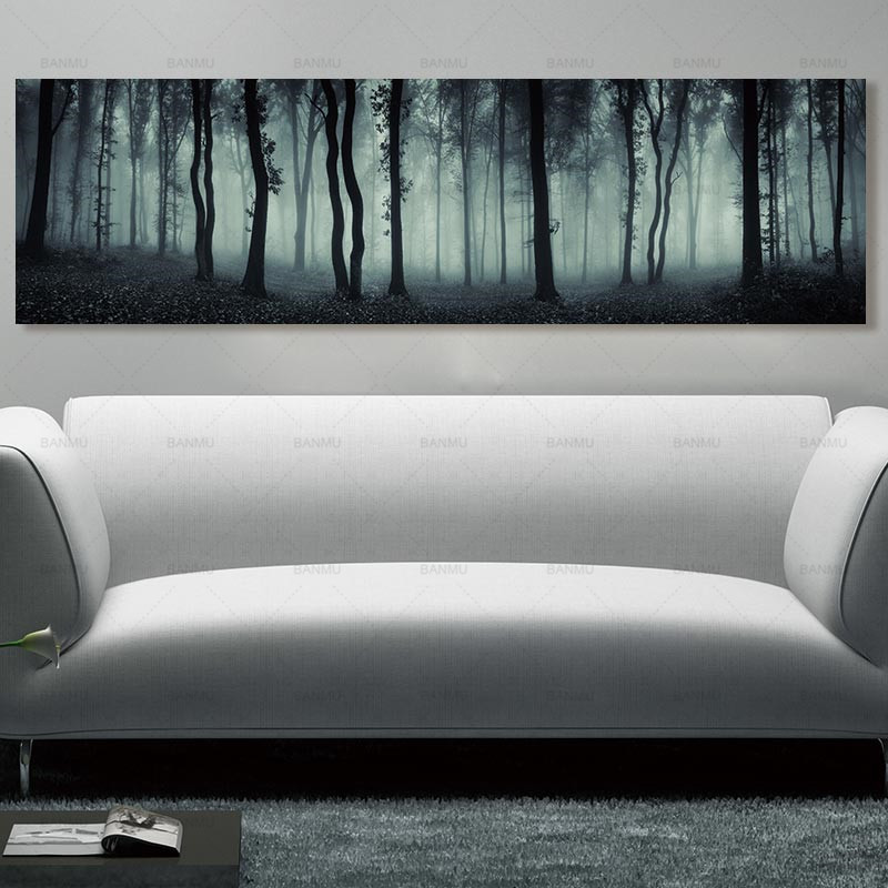 wall art Painting wall picture long canvas painting landcape art print trees posters picture decoration for living room canvas