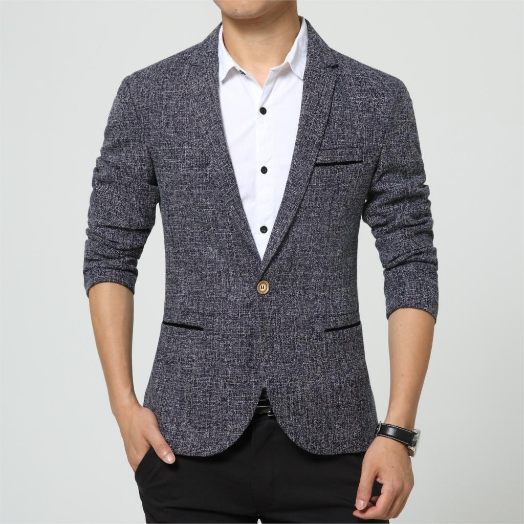 New arrival linen england style blazer men flax fashion for Luxury clothing