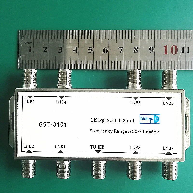 GST-8101 8 in 1 Satellite Signal DiSEqC Switch LNB Receiver Multiswitch Wholesale