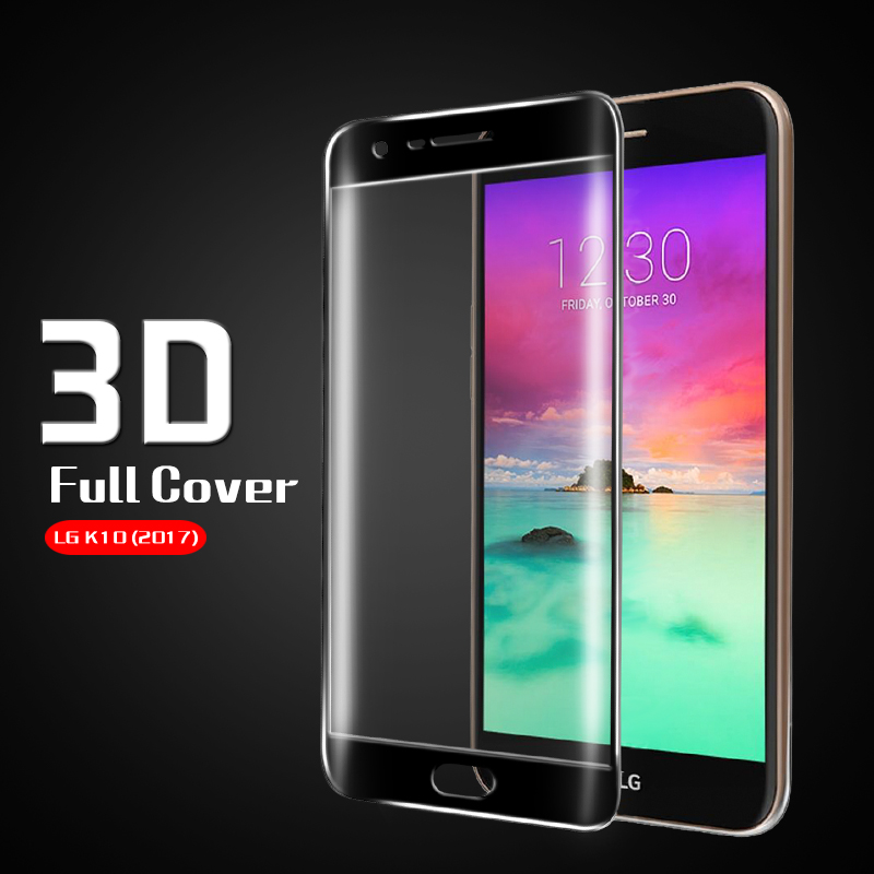 Anti-shatter full Coverage 3D Curved glass film for LG K10 2017 M250 Tempered Glass Film for LG M250 Screen Protector film