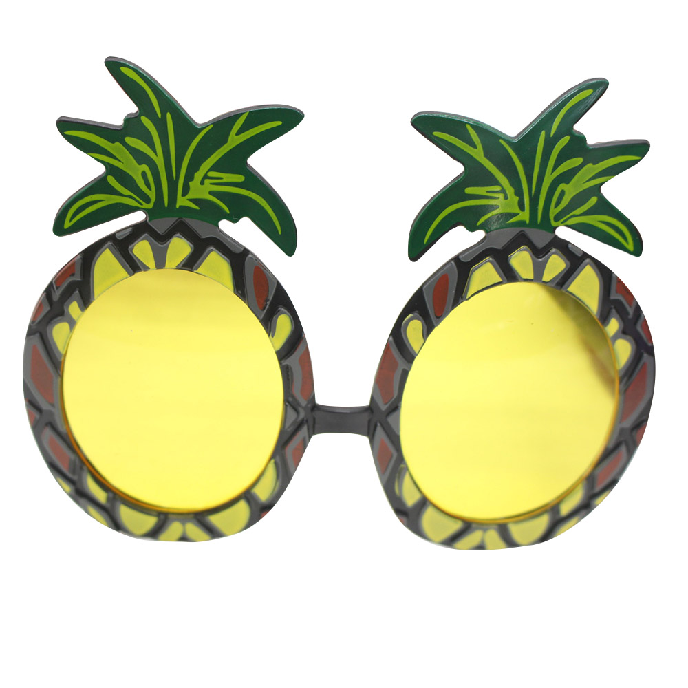 2017 Funny DIY Decor Pineapple Fruit Shaped Glasses Tropical Perfect Beach Fancy Dress Party Favors Gift