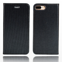 wangcangli brand phone case leather double lines of flip phone cover For iPhone 7 Plus hand made handphone case