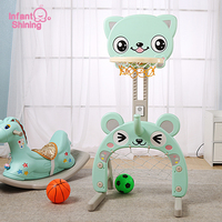 Infant Shining Toy Basketball Hoop Baby Sports Toys Basketball Stands Sports Kids Height Adjustable Kids Goal Hoop Baby Fit