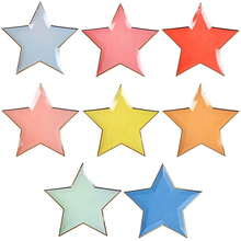 Cute Star-Shaped Disposable Party Plates Set