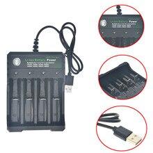 4 слота интеллектуальное USB повторное зарядное устройство способное зарядное устройство Li-Ion 18650 16340 14500
