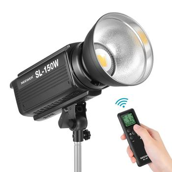 Neewer 150W 5600K Dimmable LED Video Light RA 93+ 16000LM Continuous Lighting + Bowens Mount,6 Groups 16 Channel Remote Control