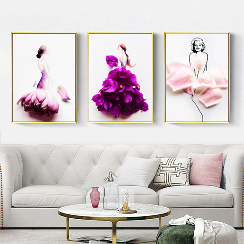 Three-dimensional dancer poster decoration painting frameless creative canvas painting art poster hd printing