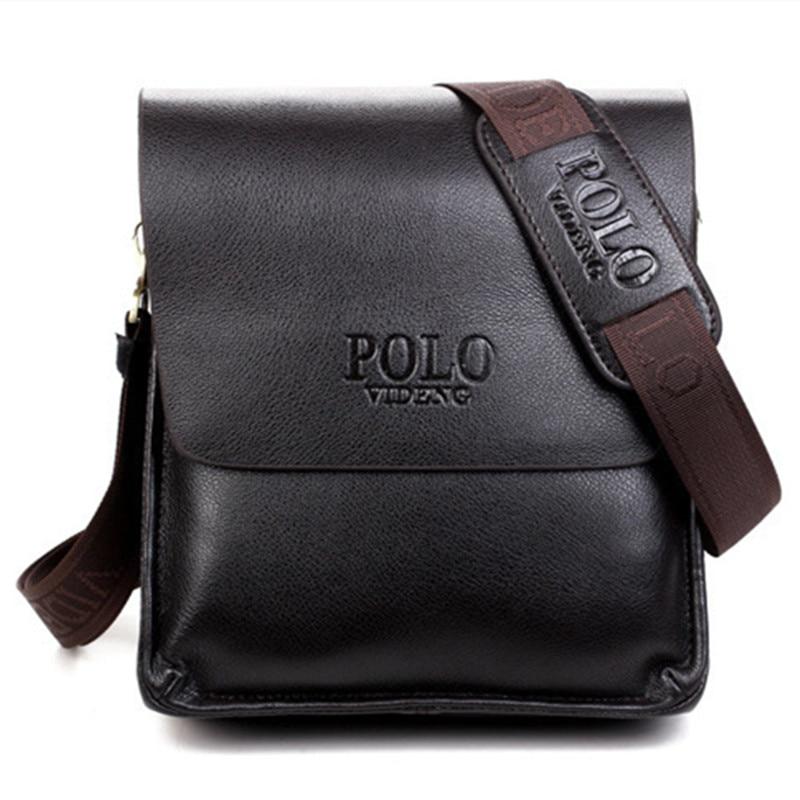 Polo de los hombres de hombro bolsas famosa marca casual de negocios de la pu ho