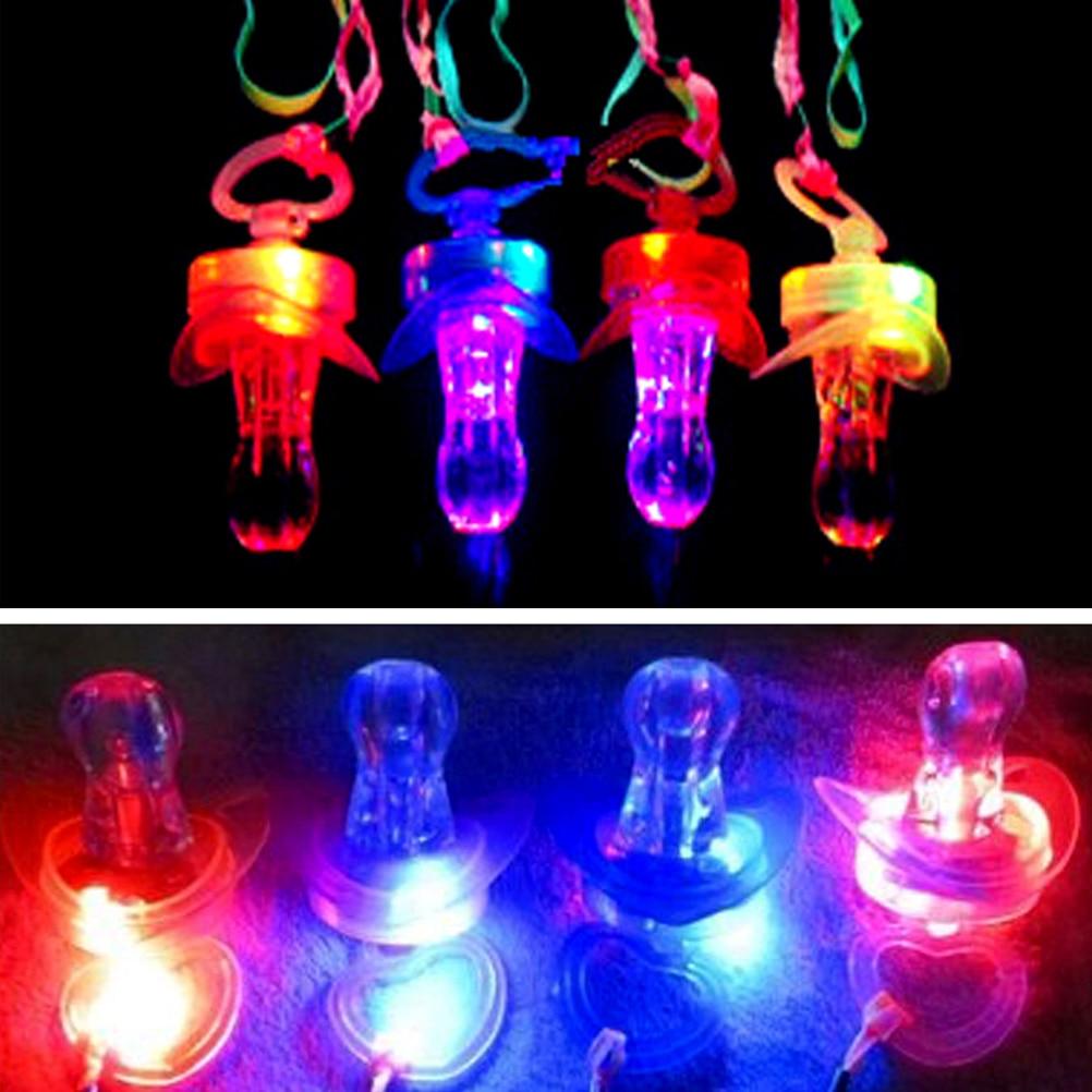 Fashion Pacifier Whistle Party Fun Toy LED Flashing Flash Glow Sticks Bar