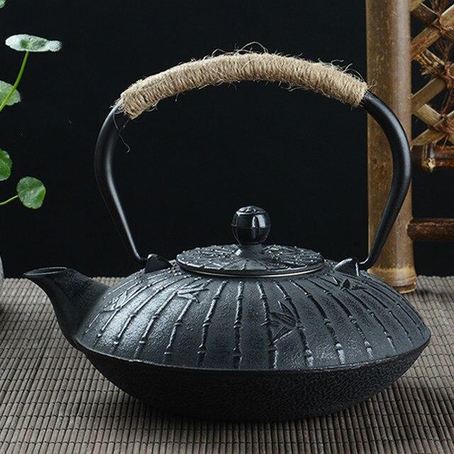 Old iron kettle Iron Kettle 900ML Iron kettle tea maker Cast iron Teapot flat pot Cast iron Tea set Water Pitcher