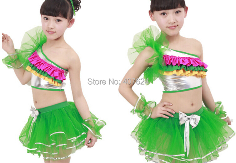 81d01a786 5pcs/Lot Popular design Latest kids latin costumes girls christmas modern  dance costumes wholesale price EMS free shipping-in Ballroom from Novelty  ...