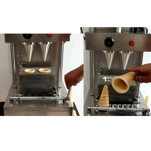Popular Commercial Automatic Stainless Steel 2 Heads Spiral Cone Pizza Cone Making Machine 220V/110V 2KW High Power