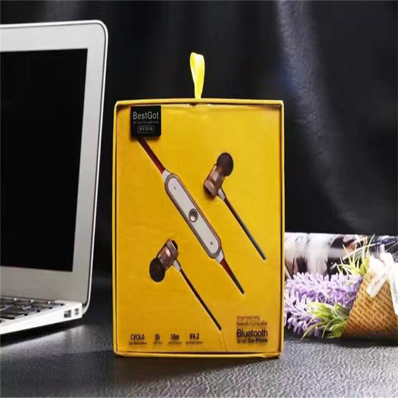 Высокое качество xy-01a музыка-вкладыши Наушники Clear Bass динамик спорта bluetooth гарнитуры с микрофоном для iPhone 6 7 Xiaomi PK S530