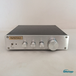 IWISTAO HIFI Tone Adjustment Preamplifier Bass Tremble Middle Control LME49720X2 Whole Aluminum Casing ClassA Power Stereo Audio