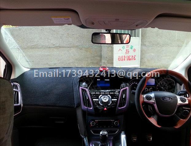 Voiture dashmats voiture-style accessoires de couverture de tableau de bord pour ford focus 3 mk3 ST 2010 2011 2012 2013 2014 2015 2016 2017 2018 RHD