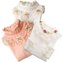 Блузка для девочек 2016 Lace Shirt