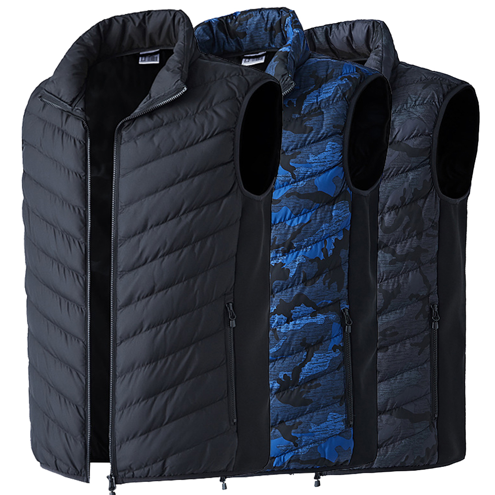 LAMBDA 2019 Men Women Electric Heated Vest Heating Waistcoat Thermal Warm Clothing Feather Vests Hot Sale Winter Outdoor Jacket