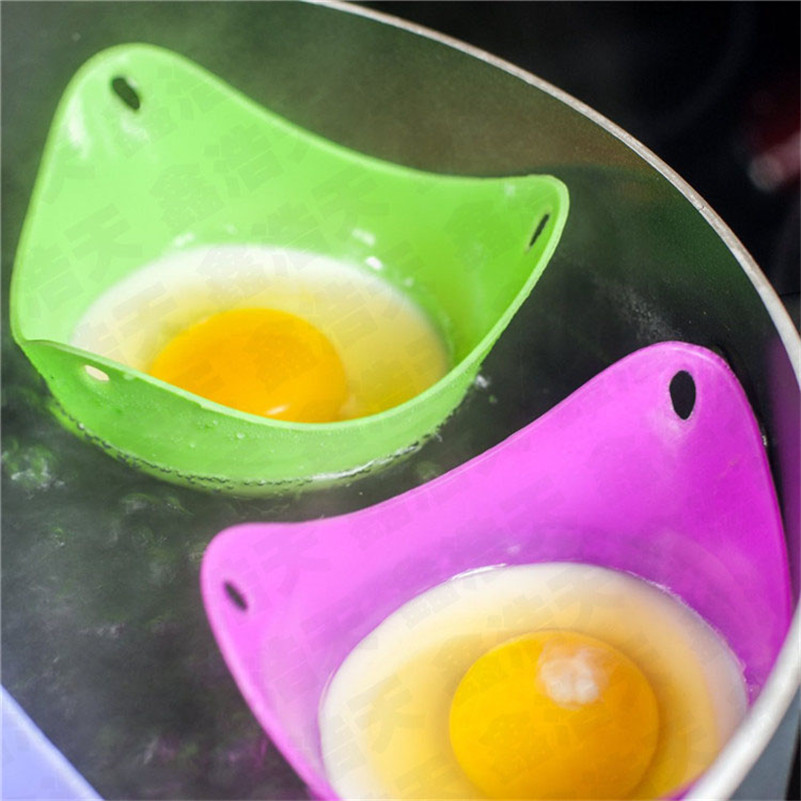 1pcs Silicone Egg Poacher Cups Cookware Microwave Cooker Or Boiler Convenient Kitchen Tools
