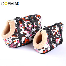 2018 New Dog Print Fashion Carrier Velvet Warm Outdoor Bag For Small Top Quality Puppy Slings Pet Products