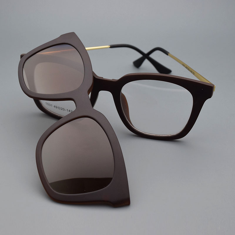 Full frame brillengestell und gläser rahmen mit magnet clip set ...
