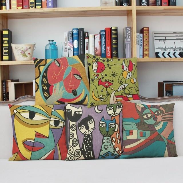 Abstrakte Kunst Malen Zeichnen Kissenbezug Kissenbezug Sofa Auto