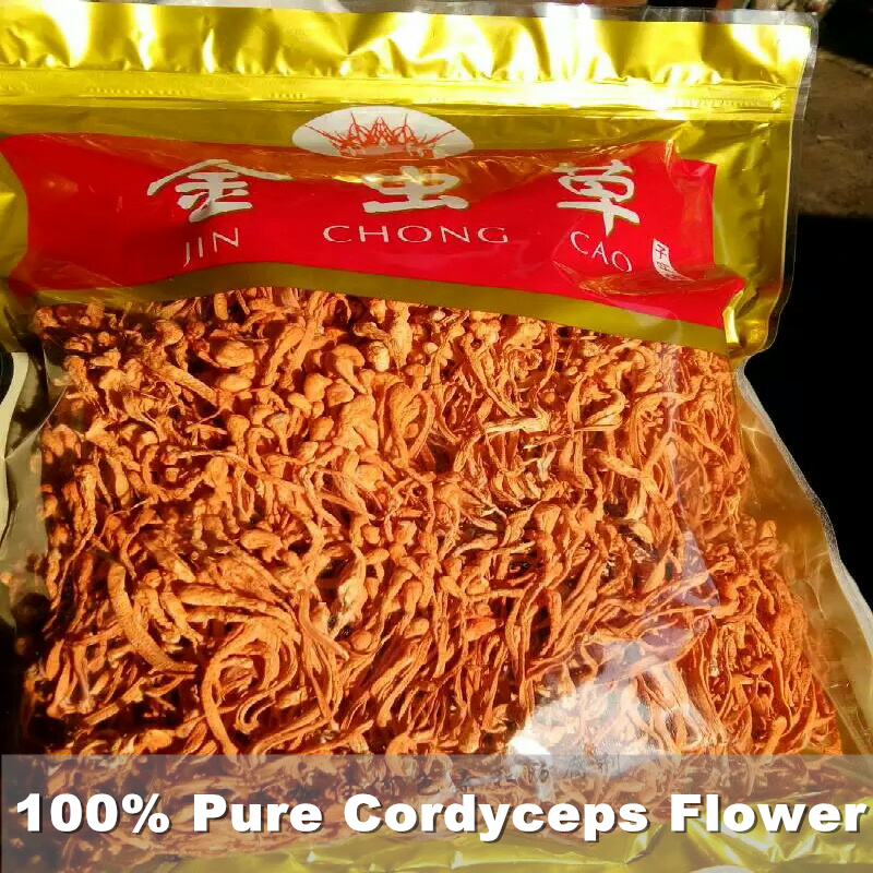 Chinese Organic High Quality 100 Pure Cordyceps Flower Sinensis Flower Cao Hua