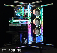 Acrylic Board Water Channel use for TT Core P90TG Computer Case / Screw Fix / Instead Reservoir / 5V 3PIN RGB Light / Combo DDC