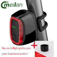 Meilan X6 Bicycle Light Smart Bike Rear Light Cycling Tail Lamp 16 LED USB Rechargeable Lantern
