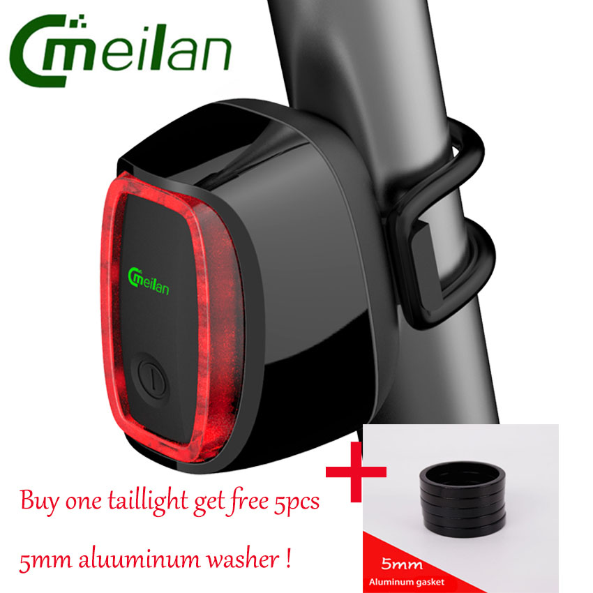 Meilan X6 CatEye Bicycle Light Smart Bike Rear Light 16 LED USB Rechargeable Lantern 7Modes Waterproof Cycling WarningTail Lamp meilan x5 wireless bike bicycle rear light laser tail lamp smart usb rechargeable cycling accessories remote turn led