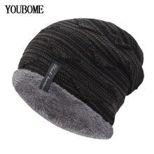 Модные вязаные шапочки Beanies Мужская зимняя шапка вязаные шапки для мужчин Gorros Bonnet мягкая маска утолщенная Теплая мужская шапка женская Зимняя кепка