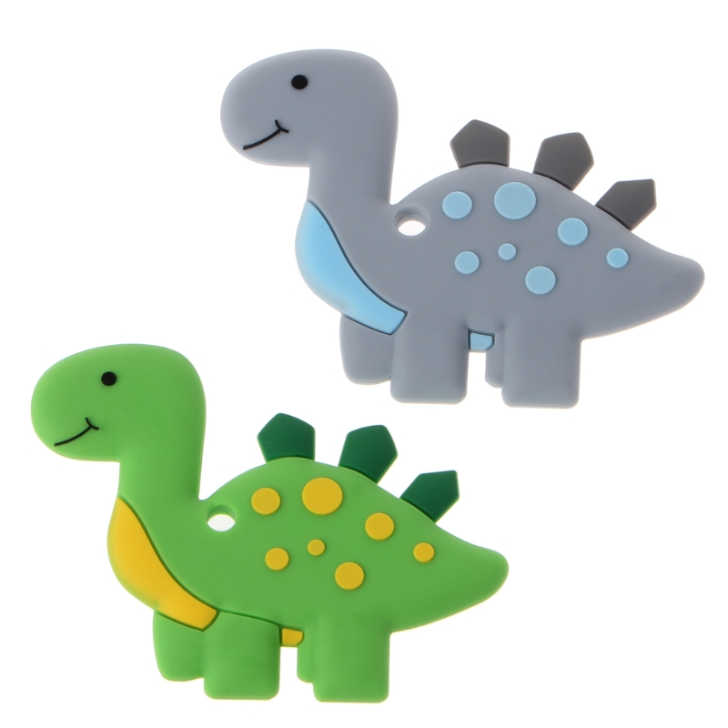 NEW Dinosaur Baby Teethers Pendant Necklace Accessory BPA Free Silicone Chew Toys baby accessories