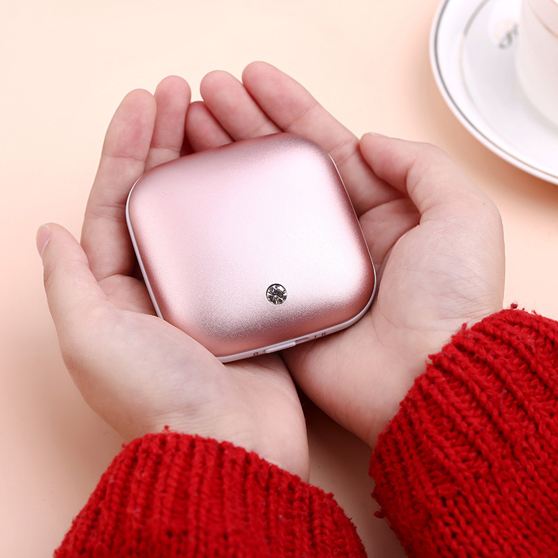 Portable Mini USB Carat Hand Warmer 3500mAh Power Bank Heater External Battery Bank DC 5V 1A  Cute Gift For Girl Women HB88