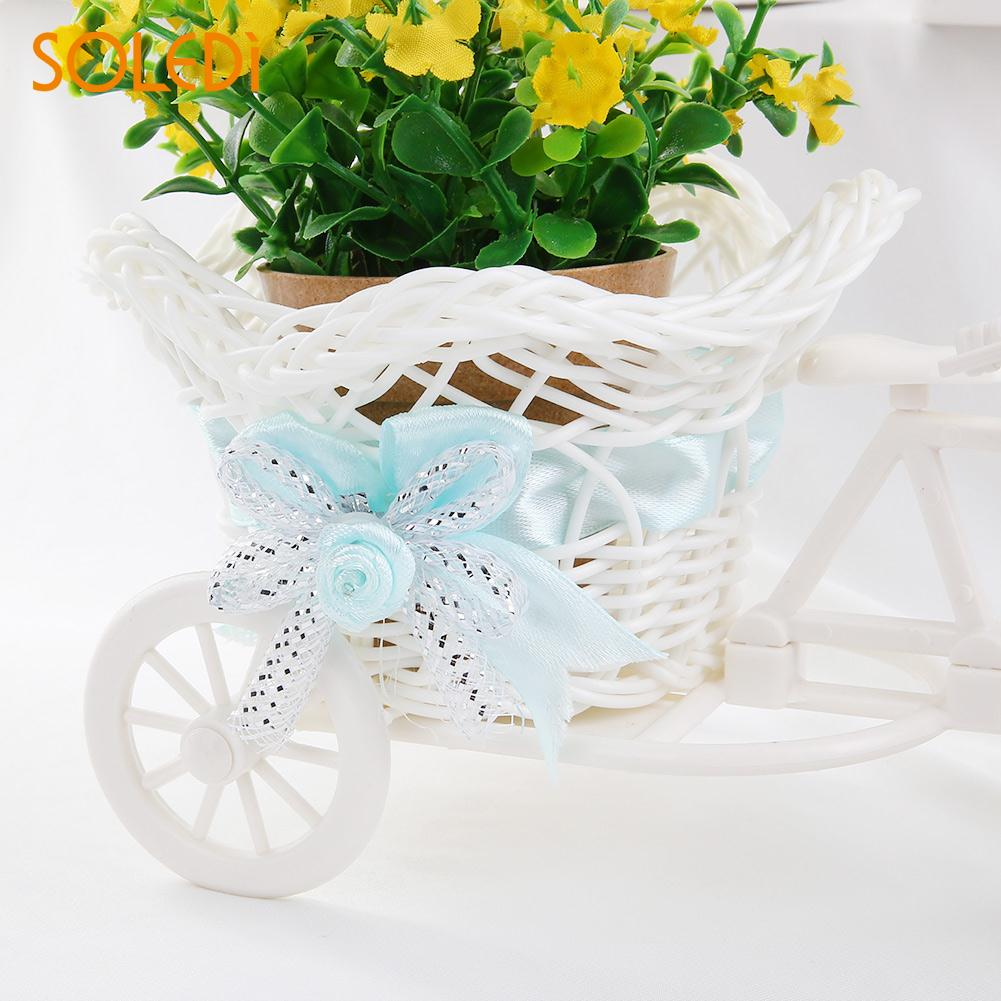 1 шт., трехколесная ваза из ротанга, цветочная корзина, для сада, свадьбы, вечеринки, для спальни, ваза для хранения, украшение, Свадебный декор, садовые цветочные горшки