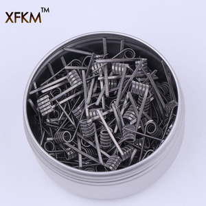 Image 1 - XFKM 50/100 pcs Flat twisted  Fused Hive clapton coils premade wrap wires Alien Mix twisted Quad Tiger Heating Resistance rda