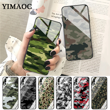 YIMAOC Camouflage Pattern Camo military Army Glass Case for Huawei P10 lite P20 Pro P30 P Smart honor 7A 8X 9 10 Y6 Mate 20