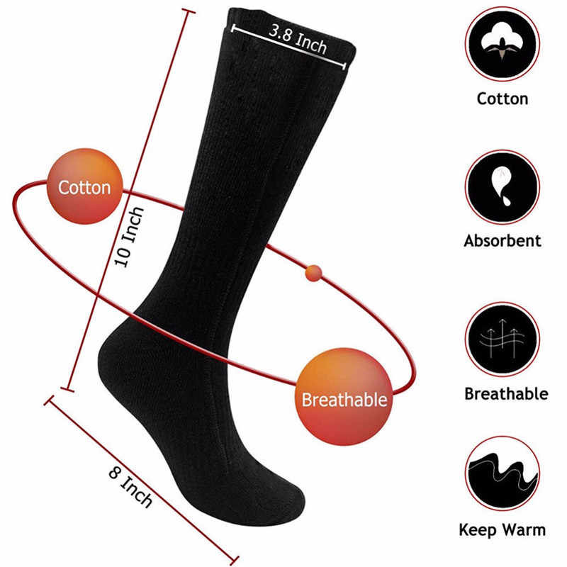 acfa07868f5 100% Cotton Feet Warm Paste Pads Heated Socks Warm Foot Warmers Electric  Warming for Hunting