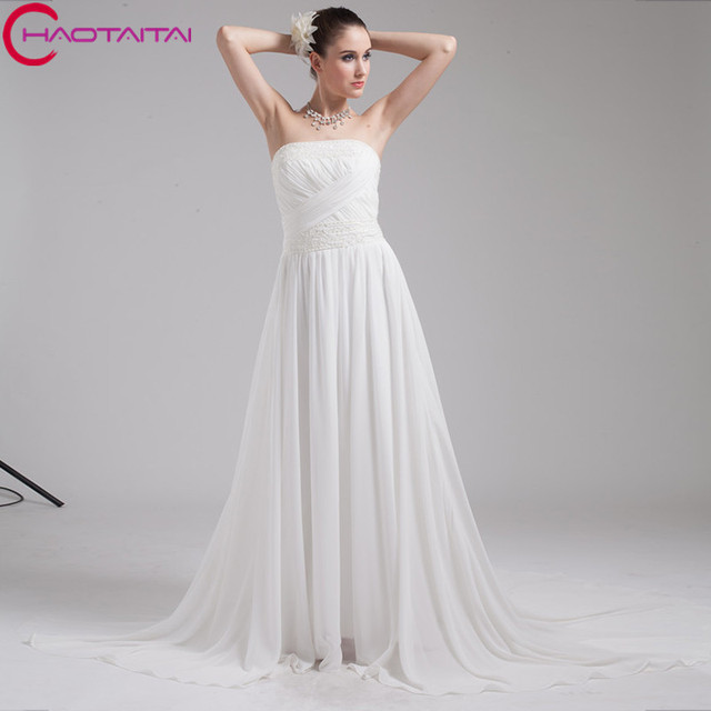 2018 Style Strapless Wedding Dress Competitive Price Luxury Zip Back ...