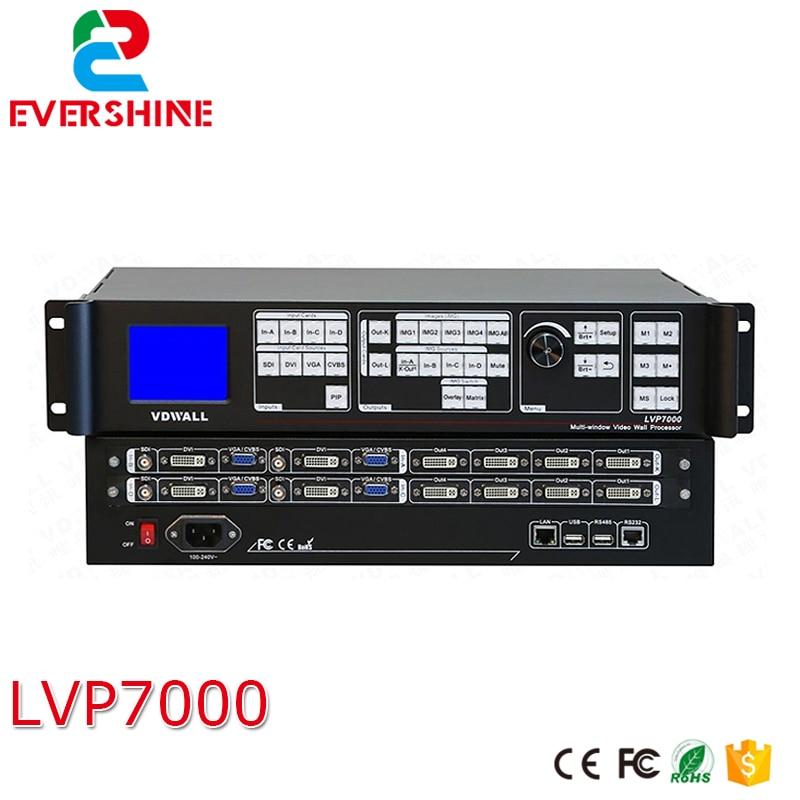 VDWALL lvp7000 (lvp8601) Оконные рамы синхронизации stitcher светодиодный видео процессор, профессиональный процессор для небольшой Размер пикселя свето