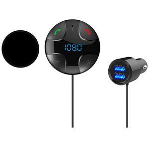 Image 4 - DC 12V 24V Bluetooth 4.2 Handsfree Wireless Car FM Transmitter Micro SD/TF Card MP3 Player & Dual USB Charging Kit