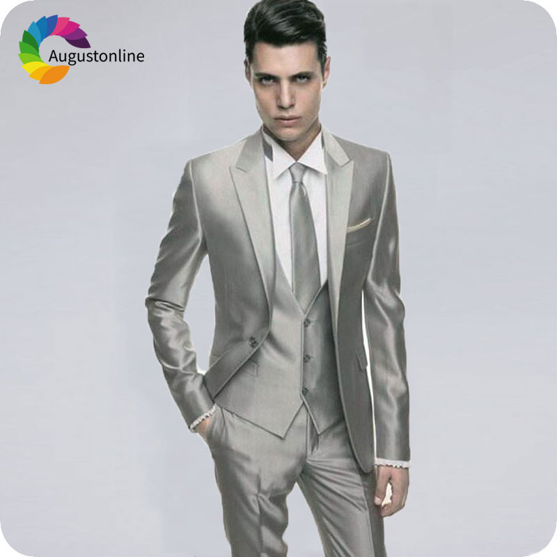 Latest-Coat-Pant-Design-Grey-Shawl-Lapel-Men-Suit-Slim-Fit-3-Piece-Classic-Tuxedo-Custom.2