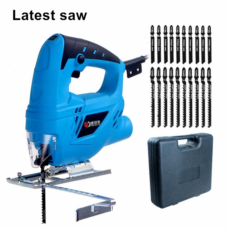 electric curve saw plus 20pcs blade household electric woodworking saw multi-function dust-free sawing machine DIY cutting tools cukyi household electric multi function cooker 220v stainless steel colorful stew cook steam machine 5 in 1