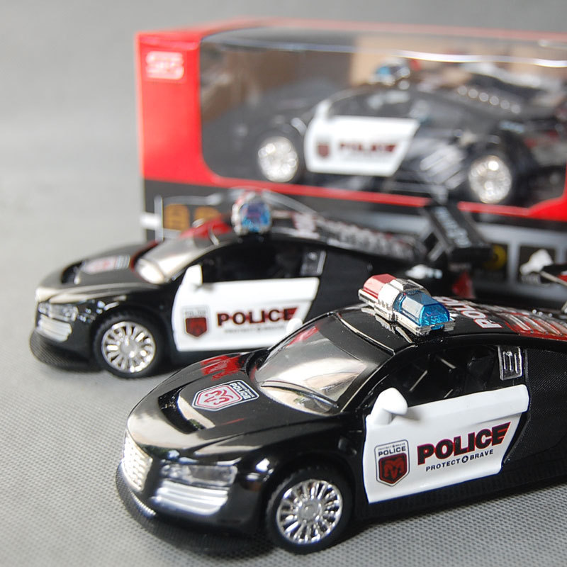 Us 19 49 Wja1098 Children S Toys Wholesale Zinc Alloy Police Car Audi R8 Audi R8 Car 1 32 Alloy Model 260g Rc Cars In Rc Cars From Toys Hobbies On