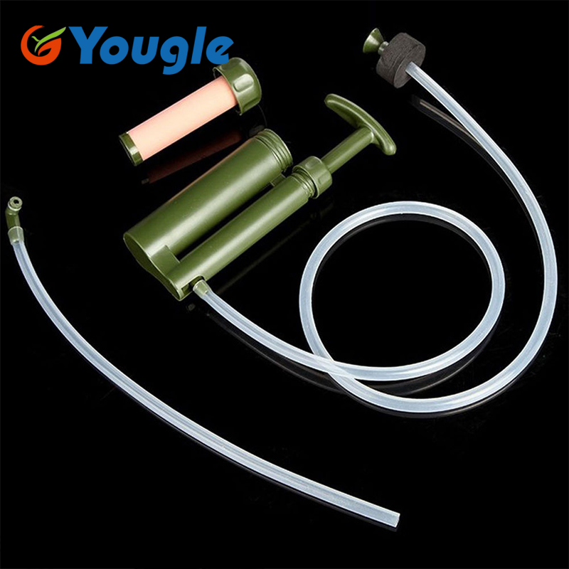 YOUGLE Portable Ceramic Soldier Water Filter Purifier Cleaner Hiking Outdoor Camping outdoor camping hiking survival water filtration purifier drinking pip straw army green