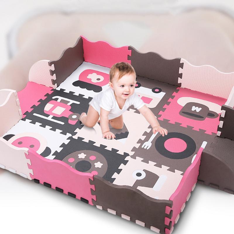 Cartoon Animal Pattern Carpet EVA Foam Puzzle Mats Kids Floor Puzzles Play Mat For Children Baby Play Gym Crawling Mats