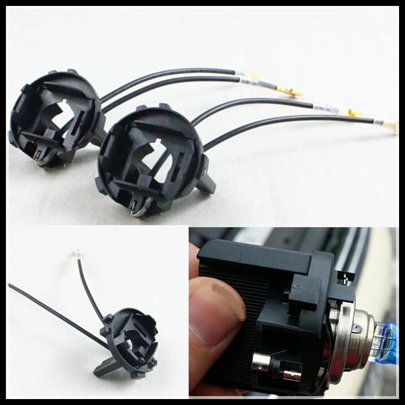 Rockeybright h7 hid adapter xenon lamp holder for volkswagen golf 7 h7 bulb holder hid lamp