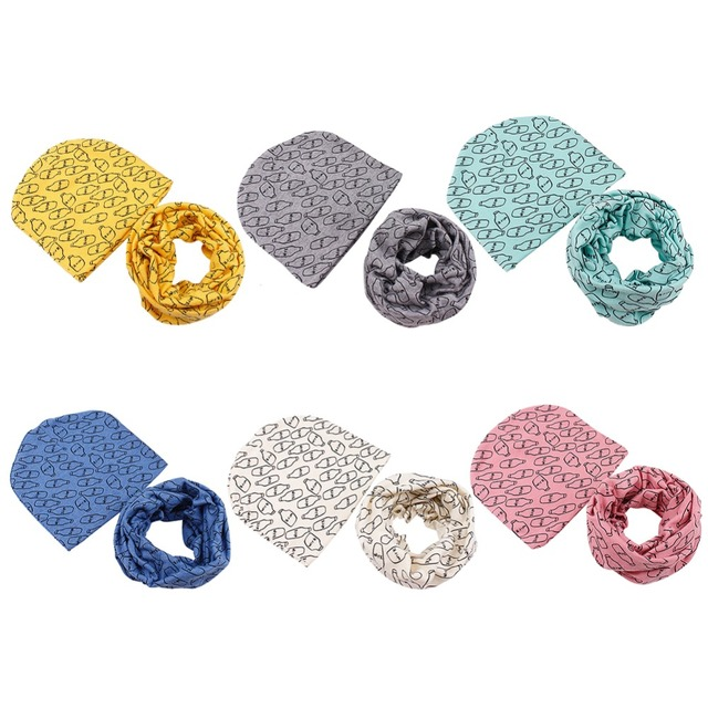 6 Colores! primavera Niños de Cobertura Cap + Bufanda Traje Estándar ...