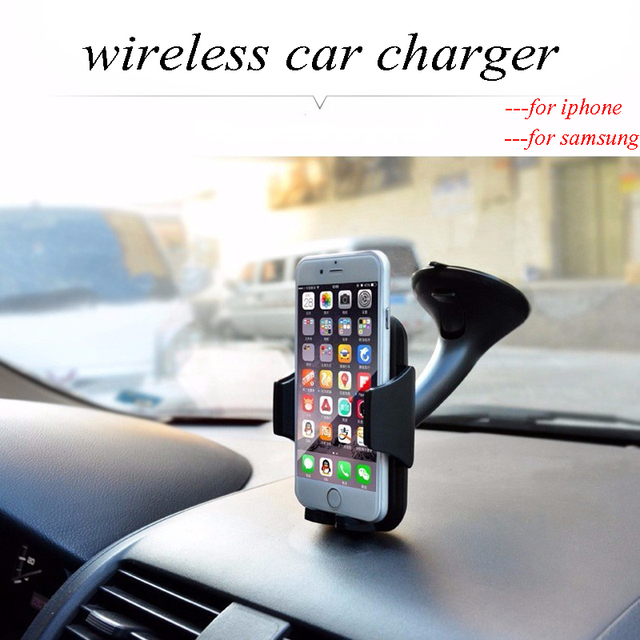 For iphone 5 6 plus Multi-Funtion Qi Wireless Charger Charging Pad Phone Holder Wireless Car Charger For Samsung S6 S7 S7 Edge