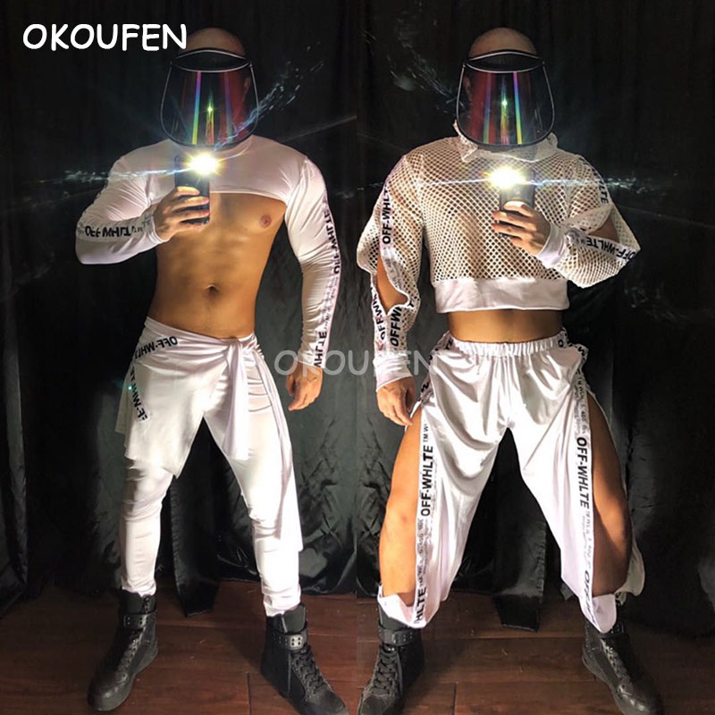 Bar Nightclub Men And Women Clothing Sexy Night Show Ds White Technology Future Theme Costume New Style